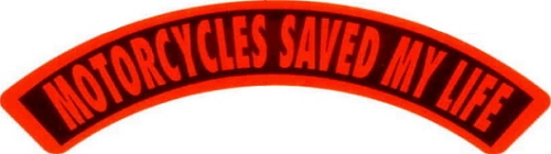 MOTORCYCLES SAVED MY LIFE HELMET STICKER